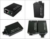 10/100m mini schneller Ethernet-Faser-Optiklautsprecherempfänger