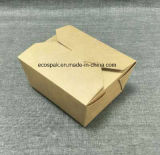 Biodegradierbares Wegwerf28oz Braunes Packpapier Carryout/Takeout Nahrungsmittelkasten-Behälter