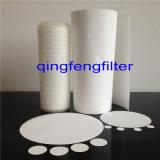 Supporto di PP/Pet 1.0 carta da filtro idrofoba pieghettata della membrana del micron PTFE
