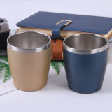 Acier inoxydable de boire de la Côte d'alimentation de la Coupe du verre Matt tasse de thé café isolation sous vide Tumbler