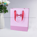 Верхней Части продажи настроить розового цвета печать упаковки бумаги подарочный пакет