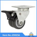 頑丈なブレーキ旋回装置が付いているTPRの足車の車輪の家具の足車