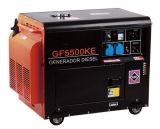 (5kw 5kVA insonorizado de 5000W) refrigerado por aire arranque eléctrico silencioso grupo electrógeno diesel de potencia portátil