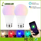 intelligente Mehrfarbenglühlampe der 5W A19 Wi-FI Steuerlicht-Lampen-RGB+W RGB+Ww