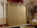 E16 Золотой классический сбора данных с одной спальней цельной древесины лакированная золотистого цвета