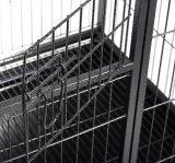 ペット車輪が付いている立方管の犬小屋