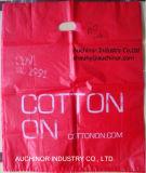 Bolso cortado con tintas mercancía colorida de la maneta de las compras de la baja densidad de las bolsas de plástico