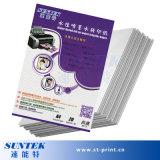Papier de transfert d'étiquette de glissière d'eau blanche de jet d'encre de la taille A4 (STC-T05)