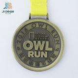 Медаль спортов изготовленный на заказ золота Antique сплава цинка сыча идущее