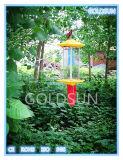 Solarlandwirtschafts-Insekt-Mörder-Lampe im Bauernhof, Garten, Obstgarten, Wald