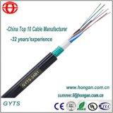 24 câbles blindés de fibre de bande en acier de faisceau avec la gaine simple
