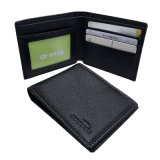 Geschäftsmann-weiche echtes Leder-Mappen-Kreditkarte RFID NFC Kartenhalter-schützende Kasten-Falten-Art-sicheren Schoner-Halter blockend