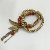Braccialetto di lavoro a maglia di vendita caldo del braccialetto della lega di fascino con i branelli