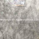 회색 얼음 오닉스 자연적인 수정같은 돌