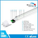 고립된 운전사 3year 보장을%s 가진 9W LED Tube8 램프 Epistar
