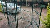 犬の塀、犬のケージ、ペット実行の塀