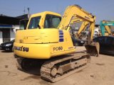 Verwendeter 6 Exkavator der Tonnen-Minikomatsu-hydraulischer Gleisketten-PC60-7