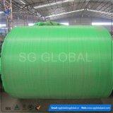 Tecido verde PP tecido para saco de embalagem