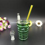 Plataforma petrolífera de Piipe da água de frasco da cor verde para fumar