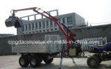 Cer Certificate 1500kg ATV Timber Trailer mit Crane Hot Selling in Schweden