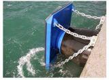 مخروط نوع حاجز بحريّة, حاجز مطّاطة