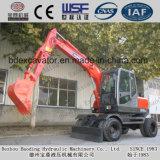 Máquinas escavadoras pequenas novas da roda de China Baoding com o certificado ISO9001
