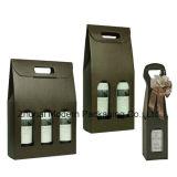 Drucken-Farben-beweglicher gewölbter flacher Wein-verpackenkasten (M00248)