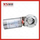 6inch 152.4mmのステンレス鋼AISI304の普通閉じるアクチュエーター空気の蝶弁