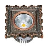 Riflettore della PANNOCCHIA 10W LED dell'hotel con il comitato d'ottone