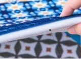 Couvre-tapis d'impression de polyester avec le support chutant de plastique non-tissé de sandwich à éponge
