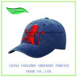 方法昇進の正常なデニムの刺繍の野球帽