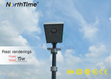 éclairage routier de l'énergie 15W solaire avec le détecteur de mouvement