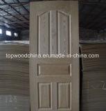 Peau en stratifié de porte de contre-plaqué de prix concurrentiel avec le placage en bois de papier de mélamine
