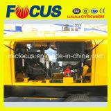 Pompe concrète de qualité de remorque intéressante de moteur électrique, pompe 90kw concrète portative