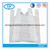 HDPE 보통 플라스틱 소매 식료품류 쇼핑 t-셔츠 손잡이 부대