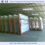 Vidrio de hoja de flotador claro recocido transparente de 12mm para el edificio / los muebles