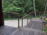 Sistema de pasamano del acero inoxidable de la curva para las escaleras