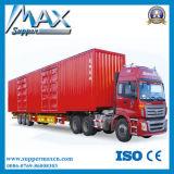 China Hot Support Diesel Box Truck Semi Semi-reboque