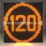 Indicador de mensagem variável montado Pólo Vmd do lado da estrada de Optraffic, tela de indicador ao ar livre do diodo emissor de luz do tráfego da cor cheia, diodo emissor de luz que anuncia a placa de tela do indicador