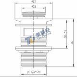 Sanitaria latón pop-up Escurridor de montaje (T1008)