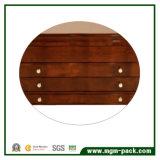 Hight Glossy caixa de armazenamento de jóias de madeira com veludo interior