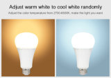 12W 1100lm RGB+CCT APP gestito e lampadina astuta controllata di WiFi LED (FUT105)