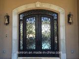 Porta principal com a porta de entrada do ferro da segurança da grade