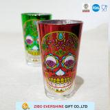 16oz de gekleurde Platerende Tuimelschakelaar van het Glas met Gloed in Donker Overdrukplaatje