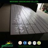 Revestimento laminado Grooved da melamina do MDF 1220X2440mm