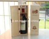 Casella di legno solida di Paulownia personalizzata disegno popolare per memoria del vino