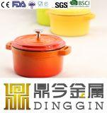 鋳鉄のエナメルの鍋の調理器具