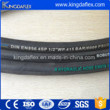 Mangueira hidráulica industrial da espiral do fio de aço (4SP/R12)