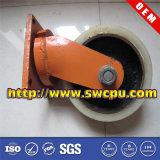 Schwarzer Nylonschwenker-Plastikfußrollen-Rad (SWCPU-P-W074)