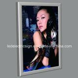 Snap Frame Marco plateado LED pantalla de publicidad